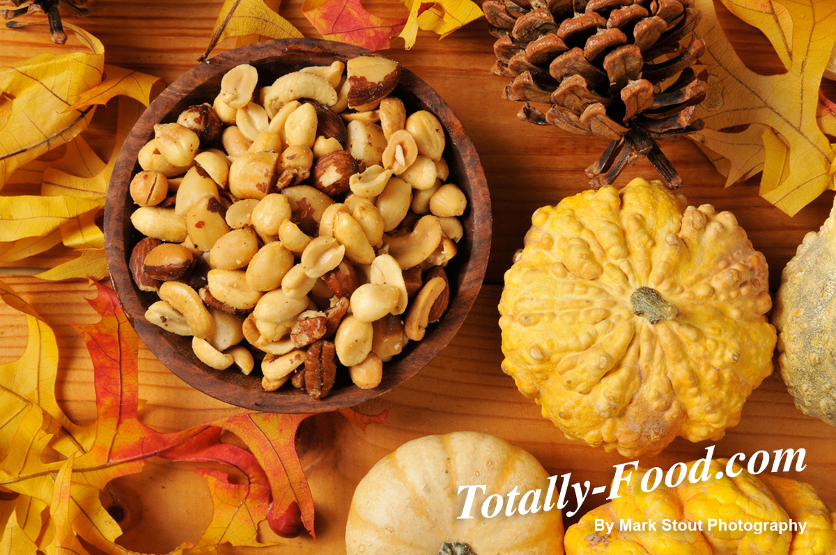 Holiday nuts food stock photo