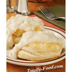 biscuits gravy stock photo