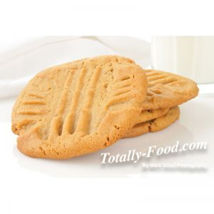 panut butter cookies stock photo