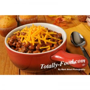 bowl chili stock photo