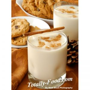 egg nog stock photo