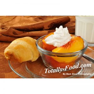 peaches and cream stock photo