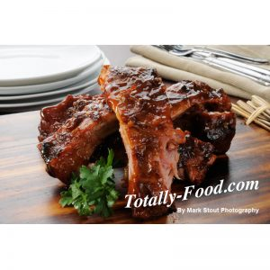 baby back ribs stock photo