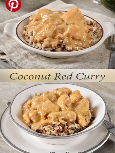 Coconut Red Curry with Chicken on Rice and Quinoa