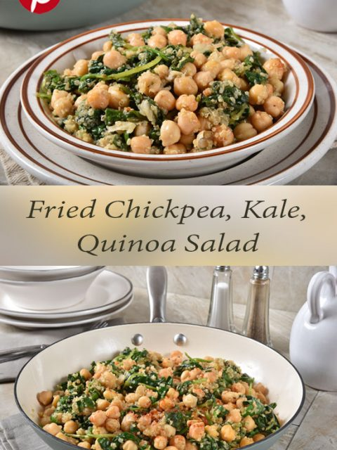 Fried Chickpea, Kale, Spinach and Quinoa Salad Recipe