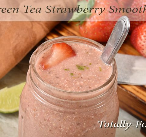 Green tea strawberry smoothie
